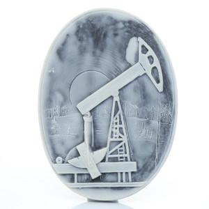 Нефтяная качалка (барельеф) / магнит