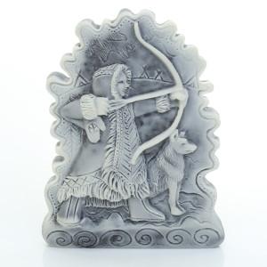 Охотник с луком (барельеф) / магнит