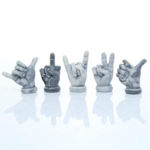 Жест руки плоский (5 видов) / магнит