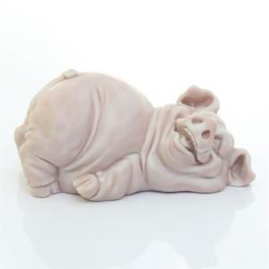 Свин лежит (шарж)